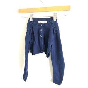 Ohh Kosh B'Gosh Navy Cropped Cardigan Sweater